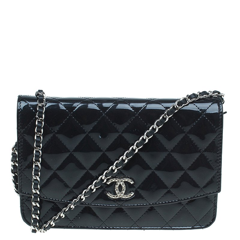 63bf0477c244 ... Chanel Patent Quilted CC Logo Wallet On Chain. nextprev. prevnext