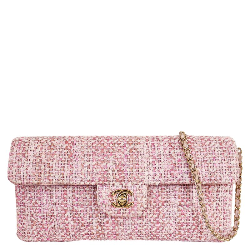 be3996d6809d Prevnext. Chanel Pink Tweed Small Clic Flap Shoulder Bag 51680 At Best