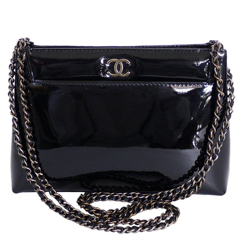 df43a2b70f51 ... Chanel Black Patent Small Evening Shoulder Bag. nextprev. prevnext