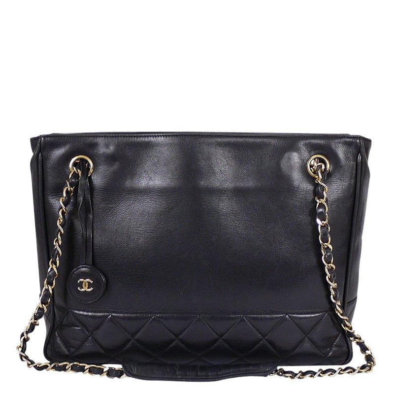 ... Chanel Vintage Black Lambskin Medium Shopping Tote. nextprev. prevnext 01369250ec