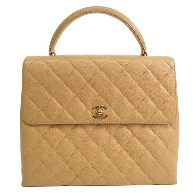 11f60115a4c8 ... Chanel Beige Quilted Caviar Jumbo Kelly Flap Top Handle Bag. nextprev.  prevnext