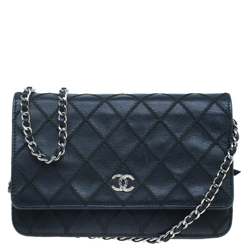 fa0e15579fa1ec ... Chanel Black Quilted Leather Classic Wallet on Chain. nextprev. prevnext