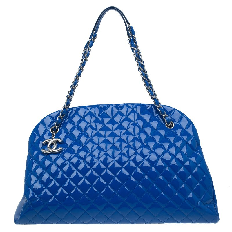 bea319e42f981a ... Chanel Blue Patent Leather Large Just Mademoiselle Bowling Bag.  nextprev. prevnext