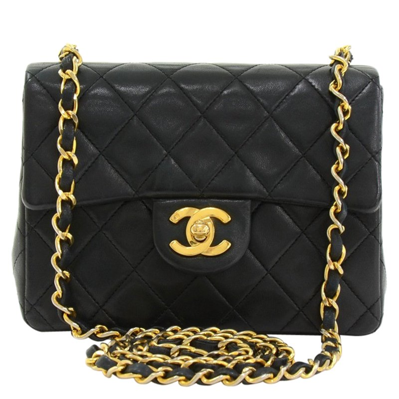 695e2e199ac6 ... Chanel Black Quilted Lambskin Mini Vintage Classic Flap Bag. nextprev.  prevnext