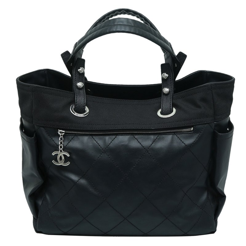 e40cc8c95438 Buy Chanel Black Quilted Coated Canvas Paris Biarritz Grand Shopping ...