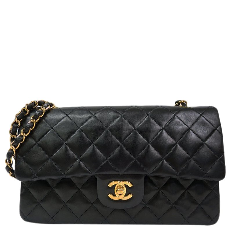 79f3d90a1ede ... Chanel Black Quilted Lambskin Medium Vintage Classic Double Flap Bag.  nextprev. prevnext