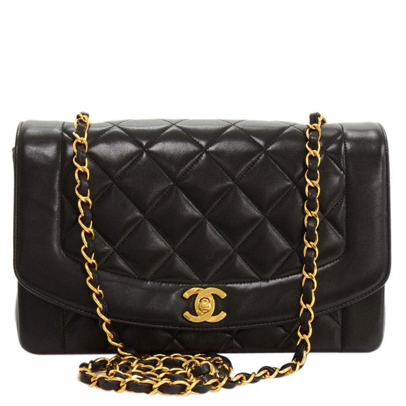7877c821f31 ... Chanel Black Quilted Lambskin Vintage Diana Classic Flap Bag. nextprev.  prevnext