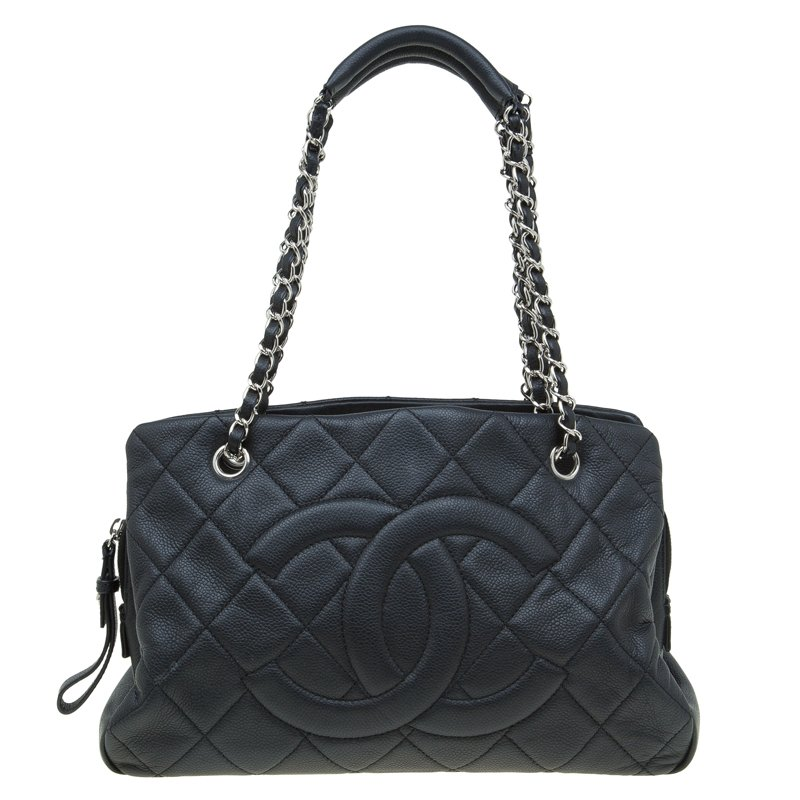 9d4f78f1fbf314 ... Chanel Black Quilted Caviar Soft Leather Timeless Shopping Tote.  nextprev. prevnext