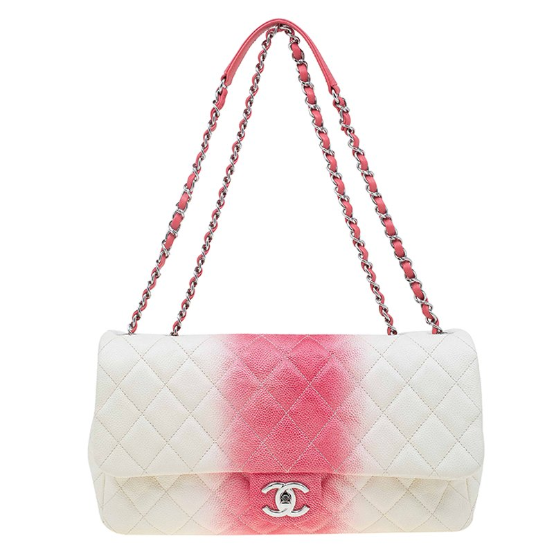... Chanel White Red Ombre Quilted Caviar Jumbo Single Flap Bag. nextprev.  prevnext 05810fe412