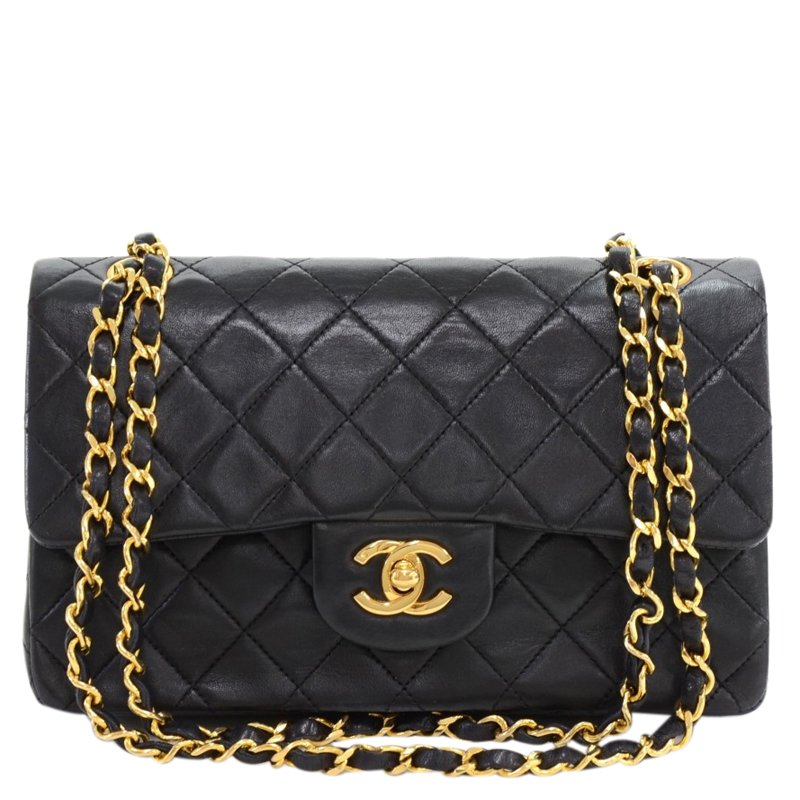 be51bfab357cfe ... Chanel Black Quilted Lambskin Small Vintage Classic Double Flap Bag.  nextprev. prevnext