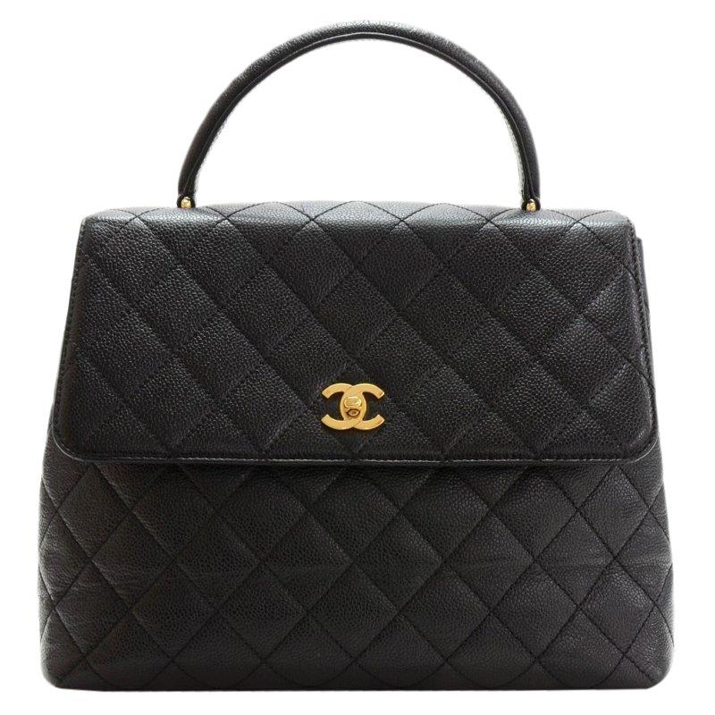 9b7852e0f44e ... Chanel Black Quilted Caviar Jumbo Vintage Kelly Bag. nextprev. prevnext
