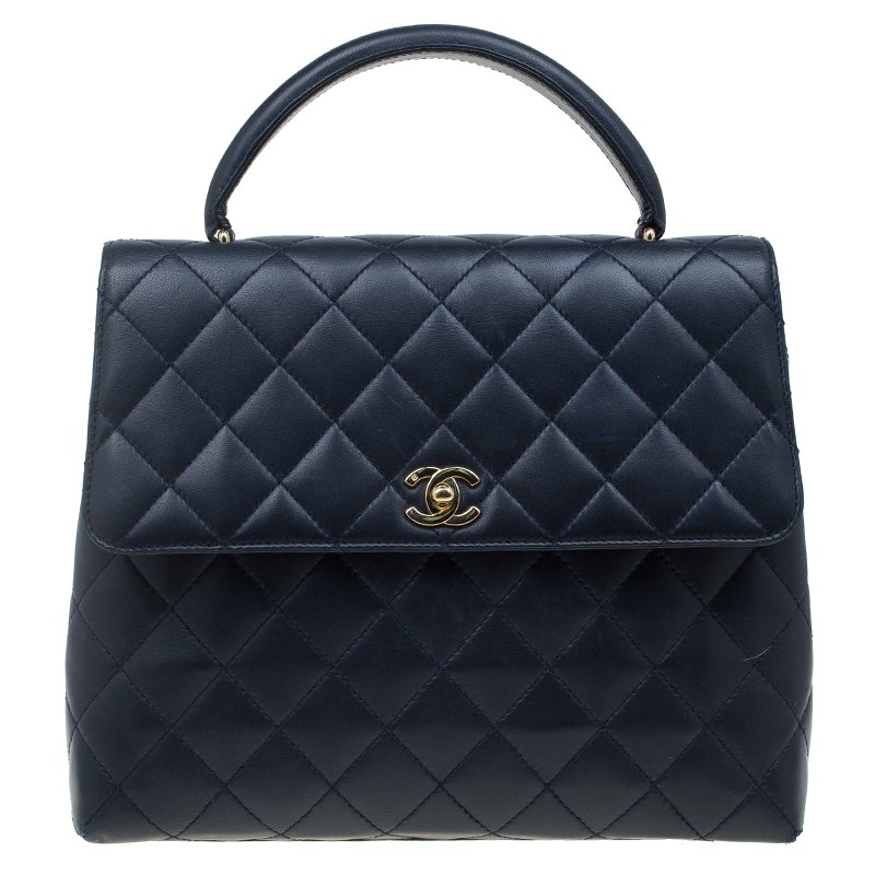 ae8d47b25a Buy Chanel Navy Blue Quilted Leather Jumbo Vintage Kelly Bag 63678 ...