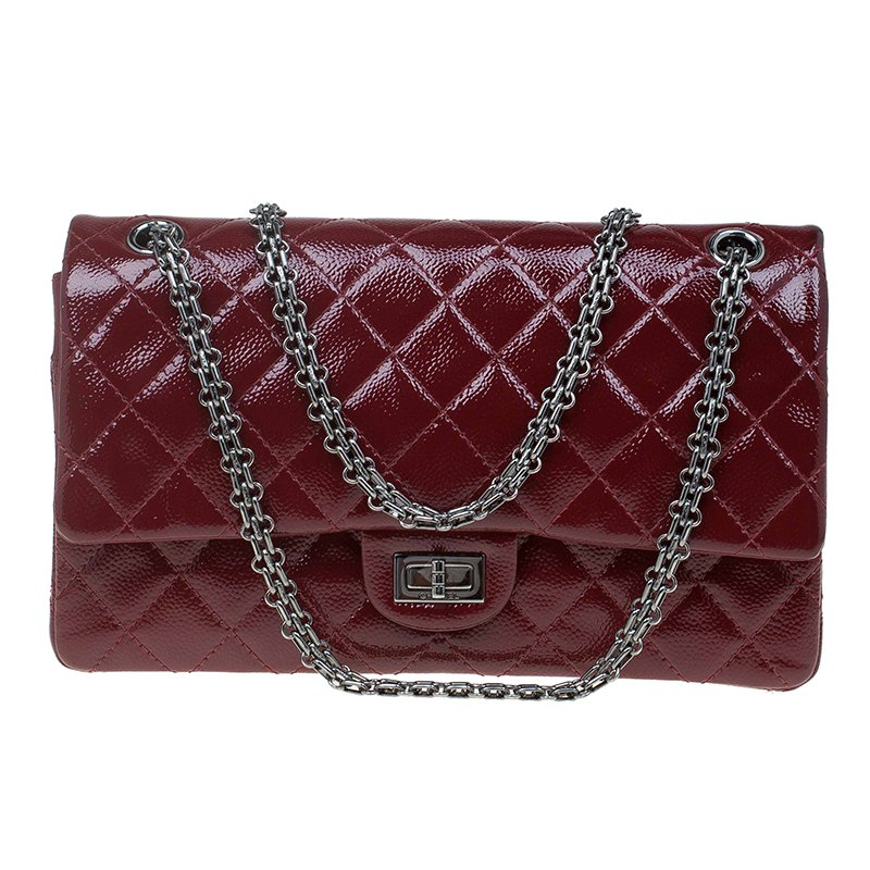 023489bf85d0f9 ... Chanel Burgundy Quilted Caviar Glazed Leather Reissue 2.55 Classic 226 Flap  Bag. nextprev. prevnext