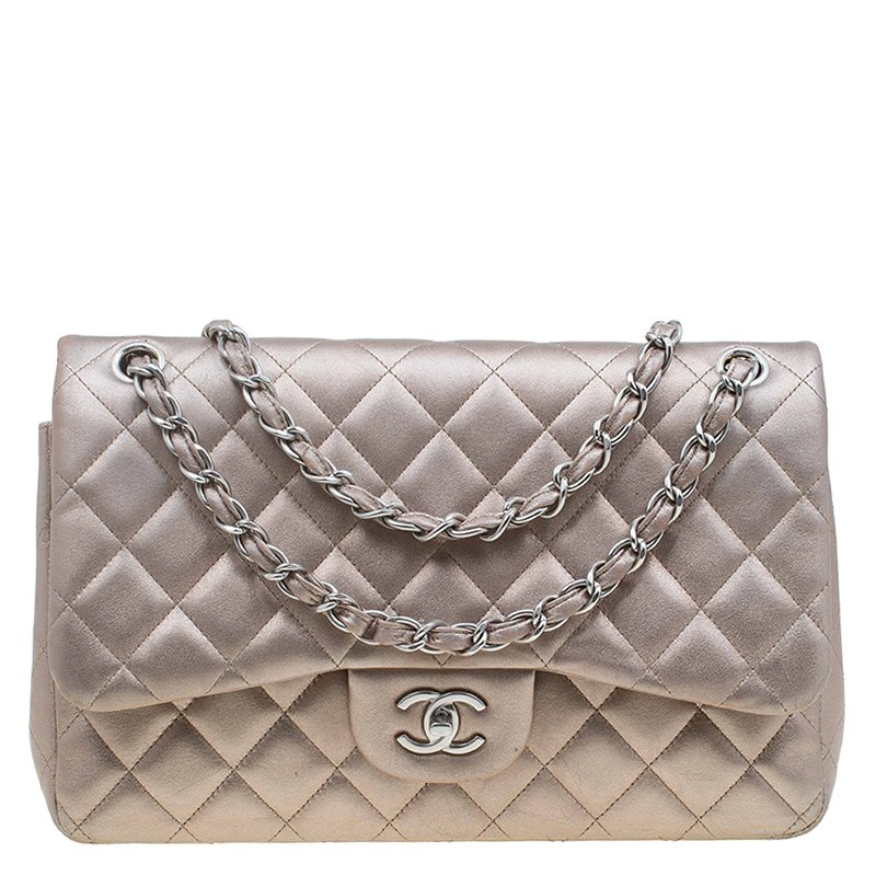f407c874320c Buy Chanel Bronze Quilted Leather Jumbo Classic Double Flap Bag ...