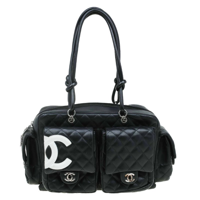 50192cb02b90 ... Chanel Black Quilted Leather Ligne Cambon Reporter Bag. nextprev.  prevnext