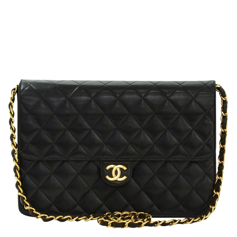 7cf956137be ... Chanel Vintage Black Quilted Lambskin Medium Classic Double Flap Bag.  nextprev. prevnext