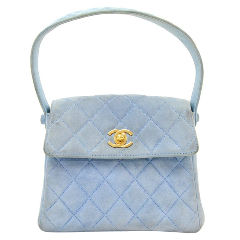 6fd5d023689b Chanel Light Blue Quilted Suede Mini Flap Bag 69185 At Best. Light Blue  Quilted Leather Marion Tote Nextprev Prevnext