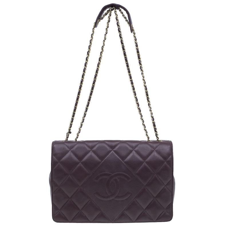 921d0d488042 ... Chanel Burgundy Lambskin Leather Quilted Medium Diamond Flap Bag.  nextprev. prevnext