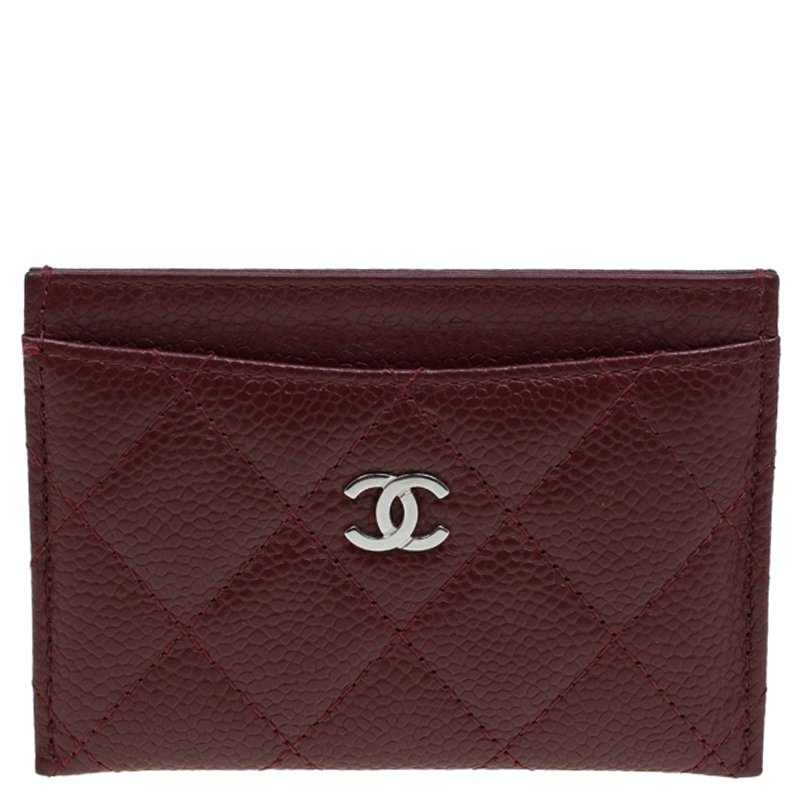 7771b8d1f3ce ... Chanel Burgundy Quilted Caviar Leather Classic Card Holder. nextprev.  prevnext
