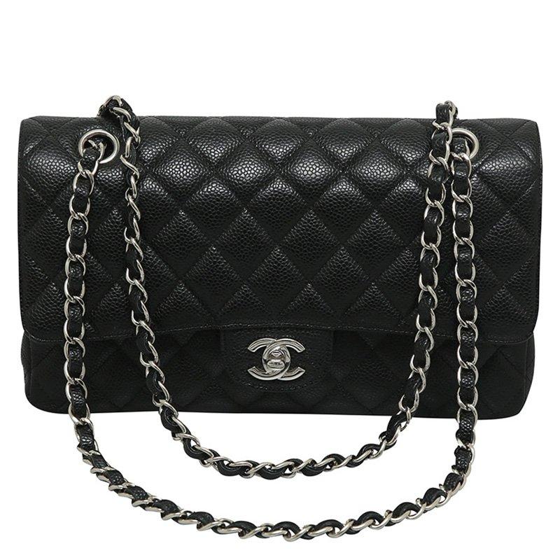 ... Chanel Black Quilted Caviar Classic Medium Single Flap Bag. nextprev.  prevnext 0f81198b01