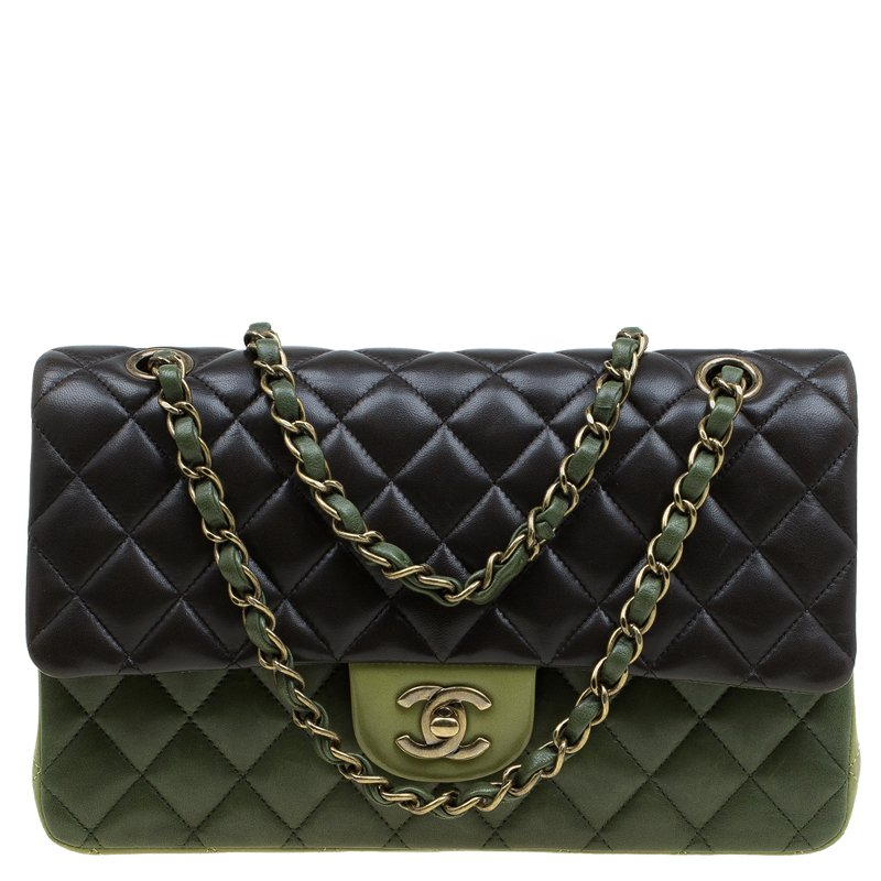 2622bac60c21 ... Chanel Tri Color Quilted Leather Medium Classic Double Flap Bag.  nextprev. prevnext