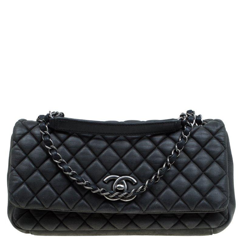 d829da23e891 ... Chanel Black Quilted Iridescent Leather Medium New Bubble Flap Bag.  nextprev. prevnext