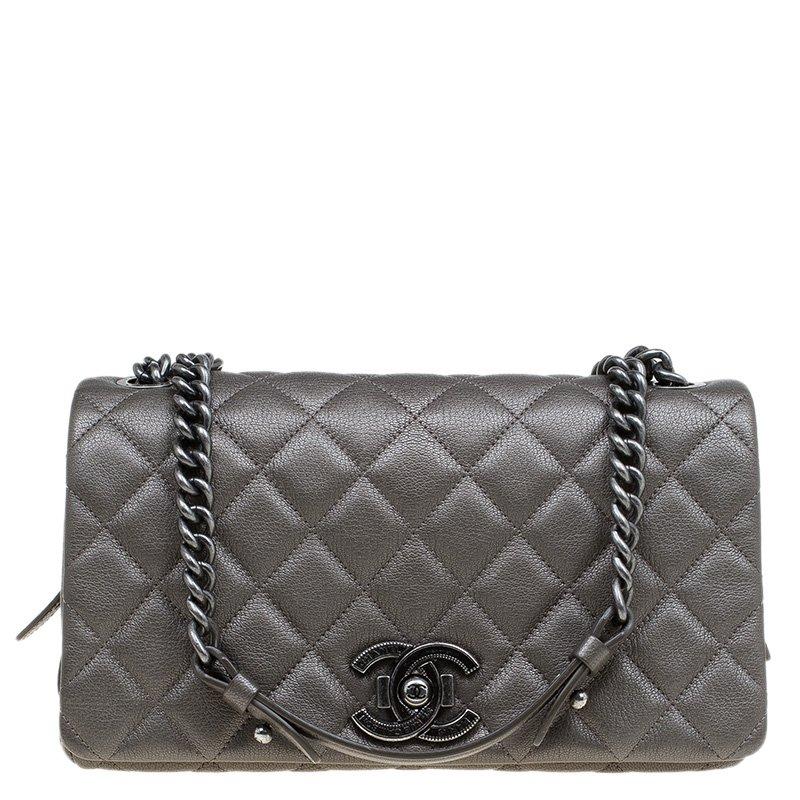 8adf1ebda4e0 ... Chanel Brown Quilted Goatskin Leather Medium City Rock Flap Bag.  nextprev. prevnext