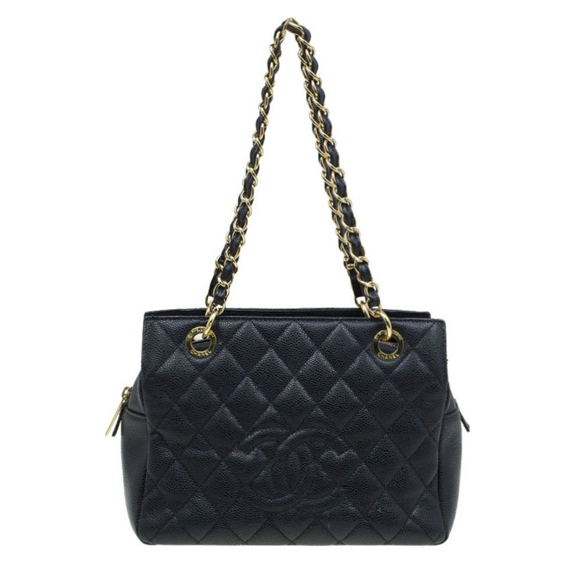 2e899ee61c52 ... Chanel Black Quilted Caviar Leather Petite Timeless Shopper Tote.  nextprev. prevnext