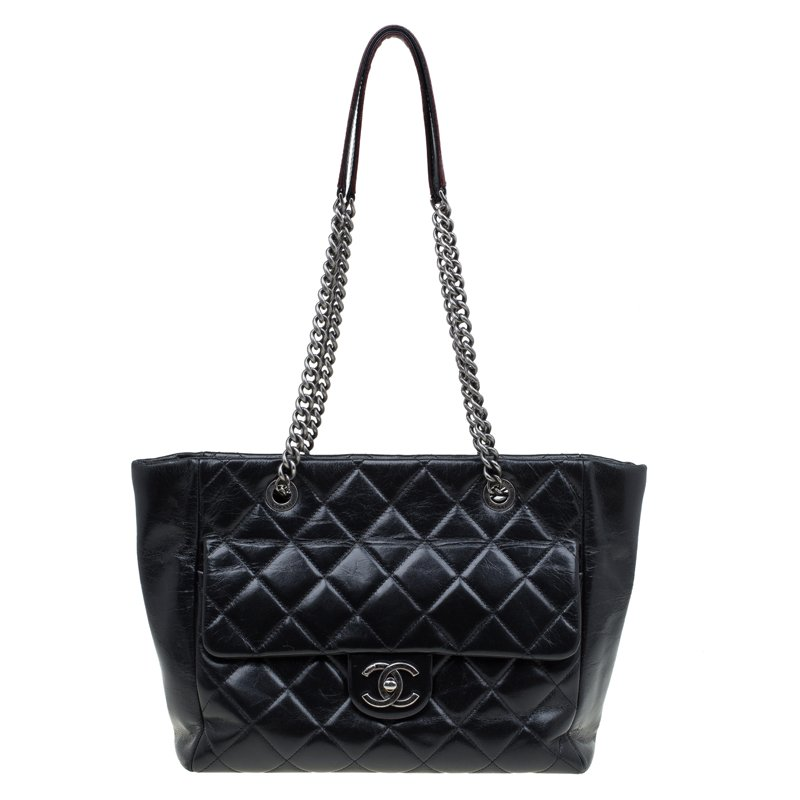 084a0d9c7b24 ... Chanel Black Glazed Leather Petite Shopper Tote. nextprev. prevnext