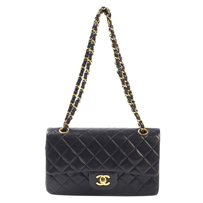 b432e47df277 ... Bag Nextprev Prevnext. Chanel Black Quilted Lambskin Vine Small Clic  Double Flap