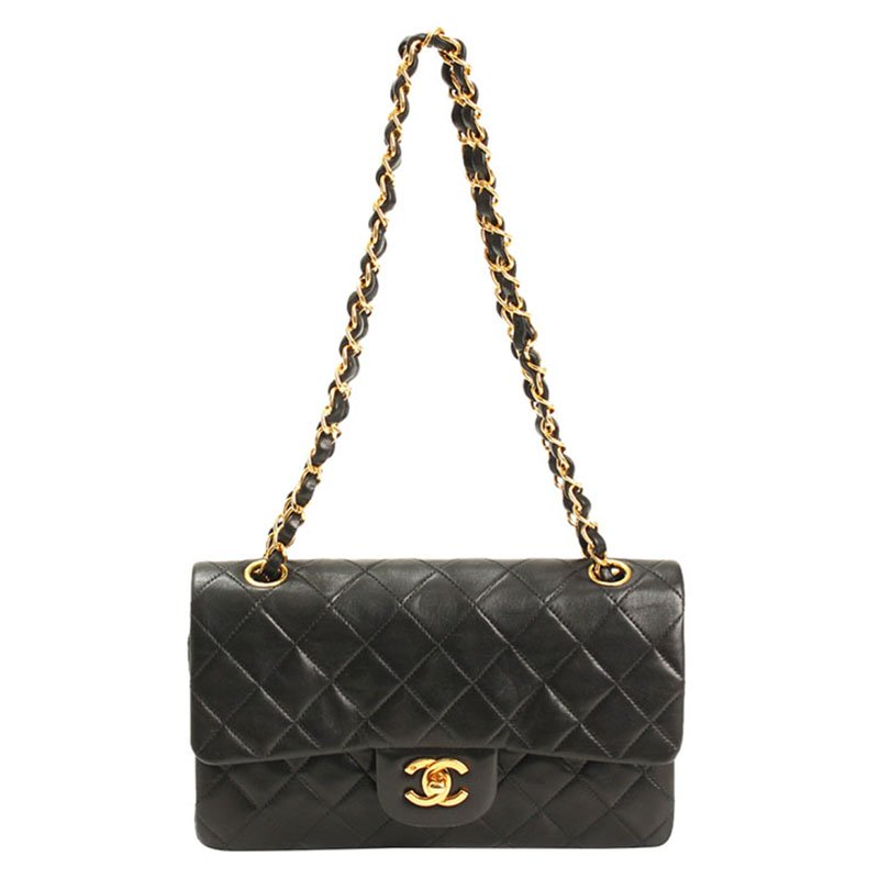 57bb146bfc19 ... Chanel Black Quilted Lambskin Vintage Small Classic Flap Bag. nextprev.  prevnext