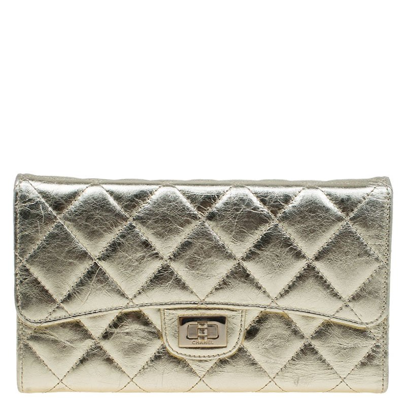 91964fb2adfb9c ... Chanel Gold Quilted Leather Reissue Trifold Wallet. nextprev. prevnext