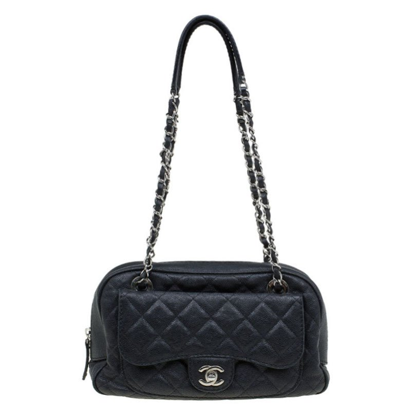 f1a7c79f Chanel Black Quilted Caviar Leather Paradoxal Camera Shoulder Bag
