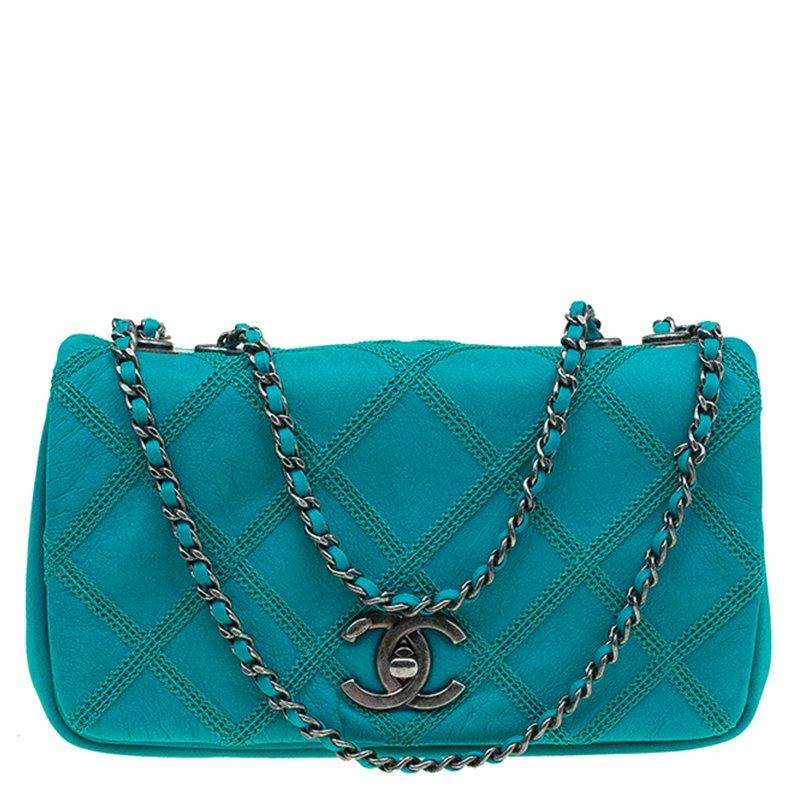 Diamond Sch Leather Mini Flap Bag