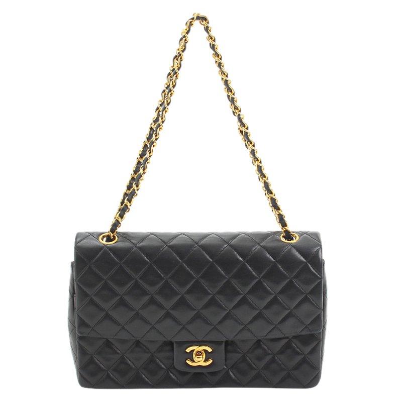687b0d8e15d068 ... Chanel Black Quilted Lambskin Classic Single Flap Bag. nextprev.  prevnext
