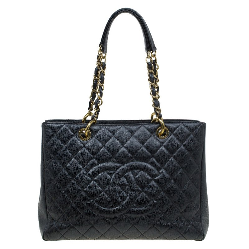 8d4d54ca6561 ... Chanel Black Quilted Caviar Leather Grand Shopping Tote. nextprev.  prevnext