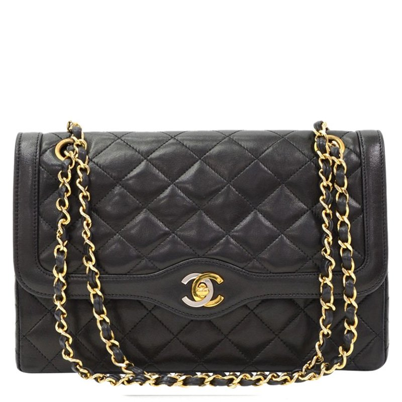 48bca4f22ad7 ... Chanel Black Quilted Lambskin Paris Limited Edition Double Flap Bag.  nextprev. prevnext
