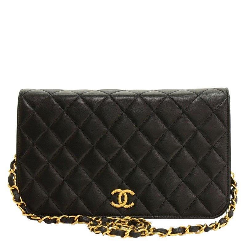 51d4b3c16109d7 ... Chanel Black Quilted Lambskin Classic Full Flap Bag. nextprev. prevnext