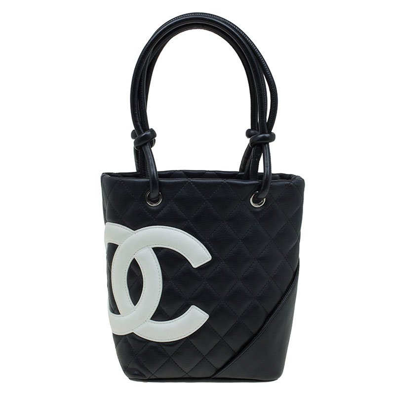 5e60429f89715 ... Chanel Black Quilted Leather Small Ligne Cambon Bucket Tote. nextprev.  prevnext