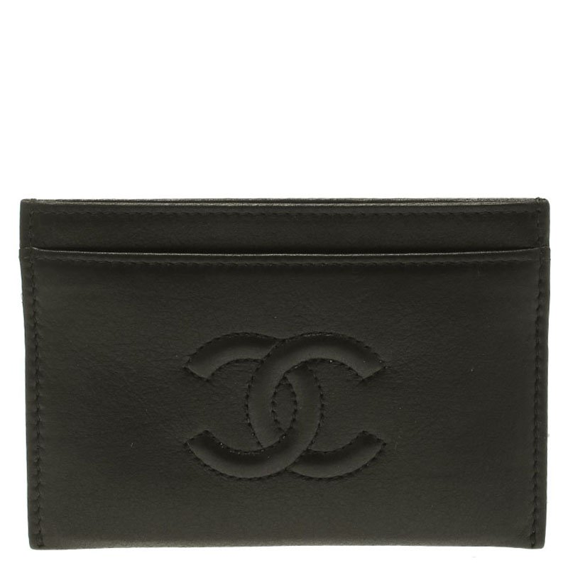 b5984832aa Buy Chanel Black Leather CC Card Holder 89854 at best price