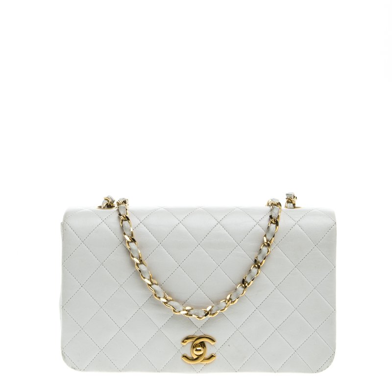 9352d2fd3818 ... Chanel White Quilted Leather Vintage Full Flap Bag. nextprev. prevnext