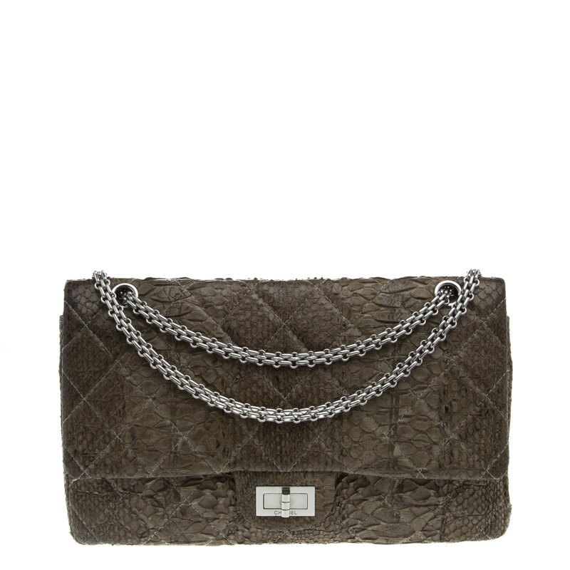 f2ce8895287236 Buy Chanel Grey Quilted Python Reissue 2.55 Classic Flap Bag 92475 ...