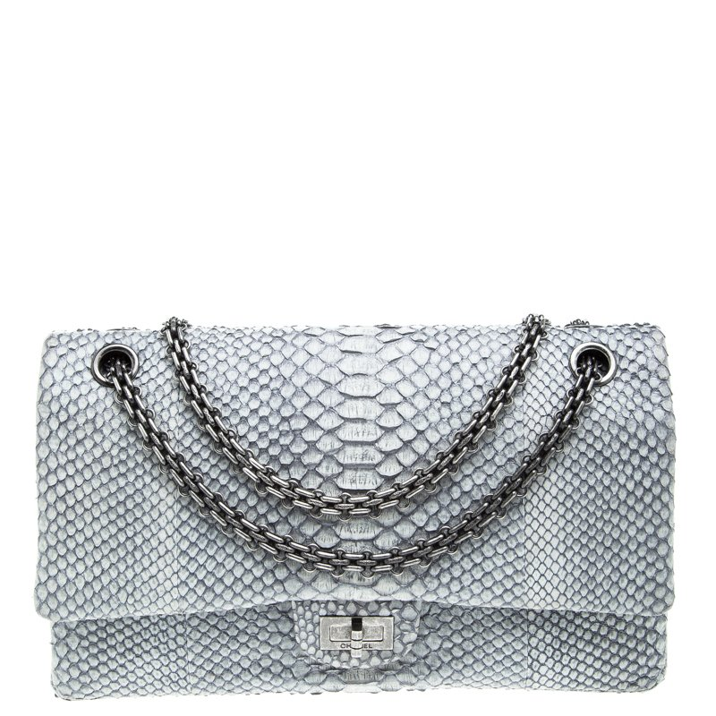 Buy Chanel Grey Python 2.55 Reissue 226 Flap Bag 94867 at best price ... 9d91d9b138