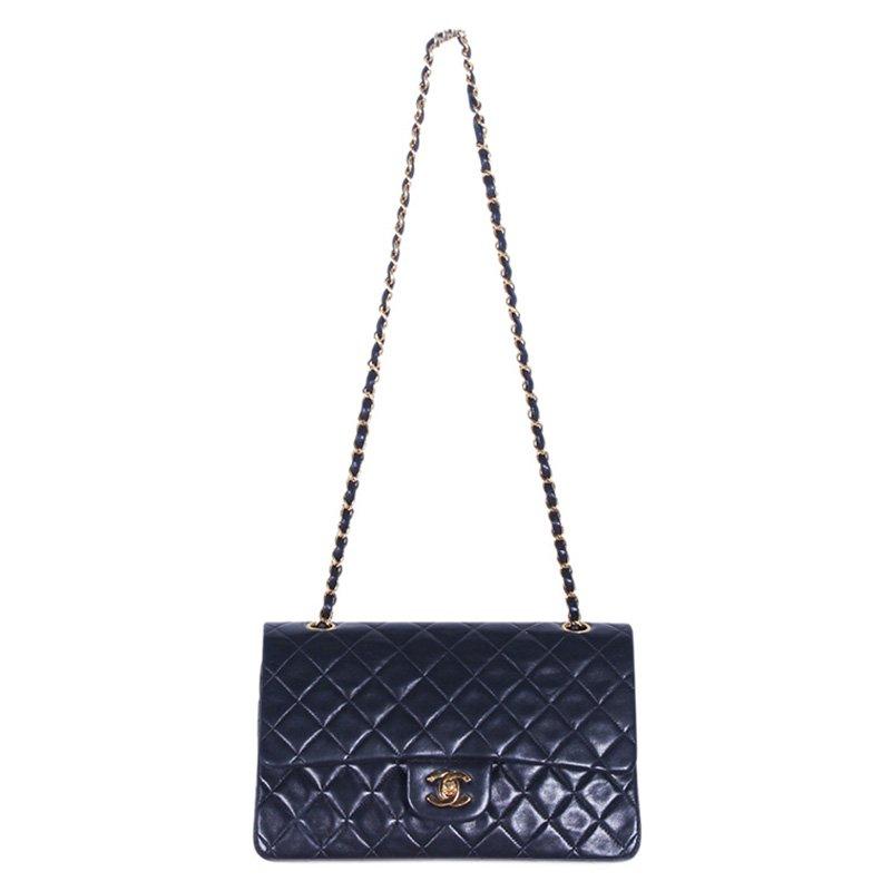 8c4efb2b6c7 ... Chanel Black Quilted Lambskin Medium Vintage Classic Double Flap Bag.  nextprev. prevnext