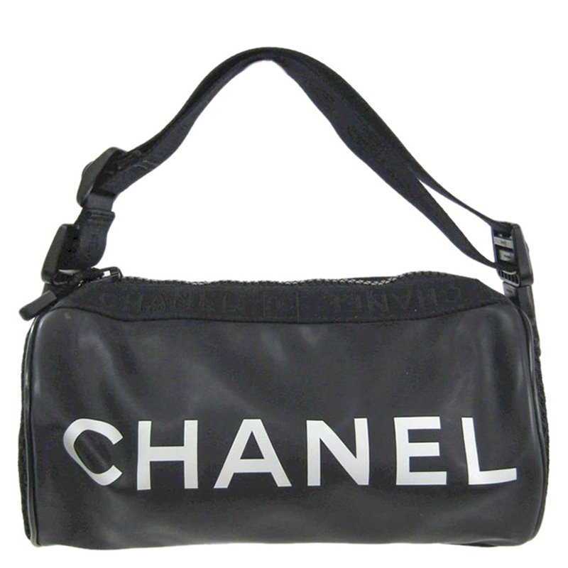 ae4aa1c1d5fe Buy Chanel Black Rubber Sport Bag 97629 at best price | TLC