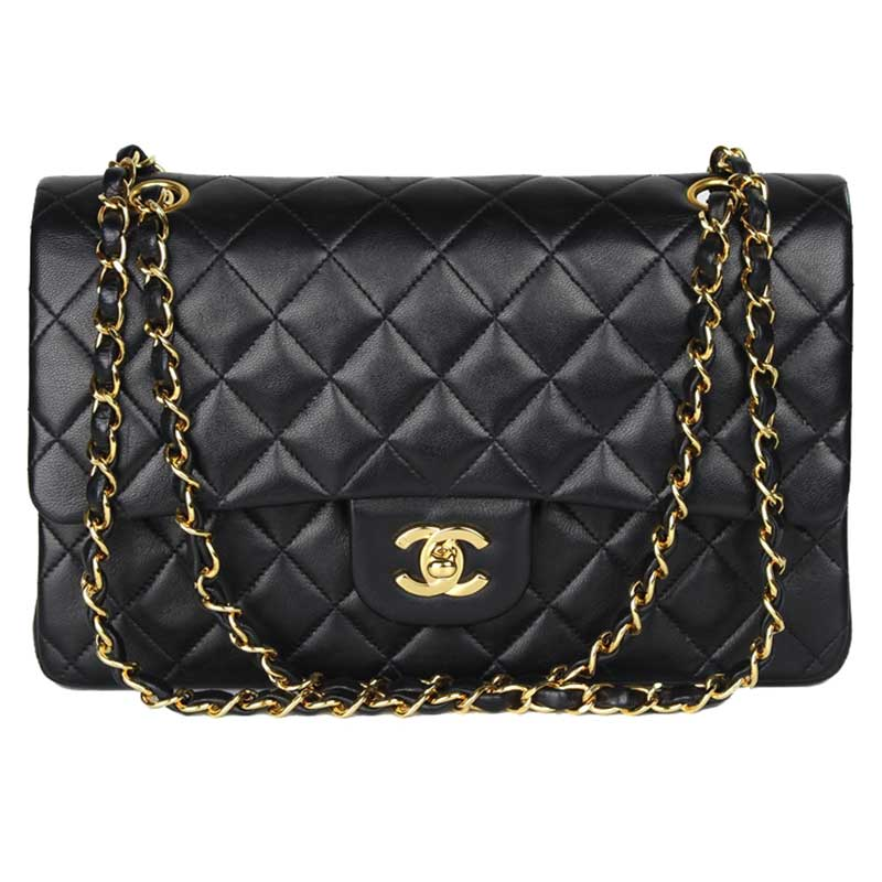 6b30d5bf4629 ... Chanel Black Quilted Lambskin Medium Vintage Classic Double Flap Bag.  nextprev. prevnext