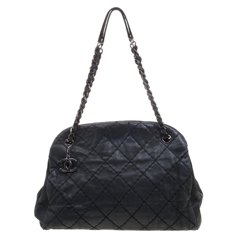 351c2fa969e3 ... Chanel Black Quilted Iridescent Leather Just Mademoiselle Bowling Bag.  nextprev. prevnext