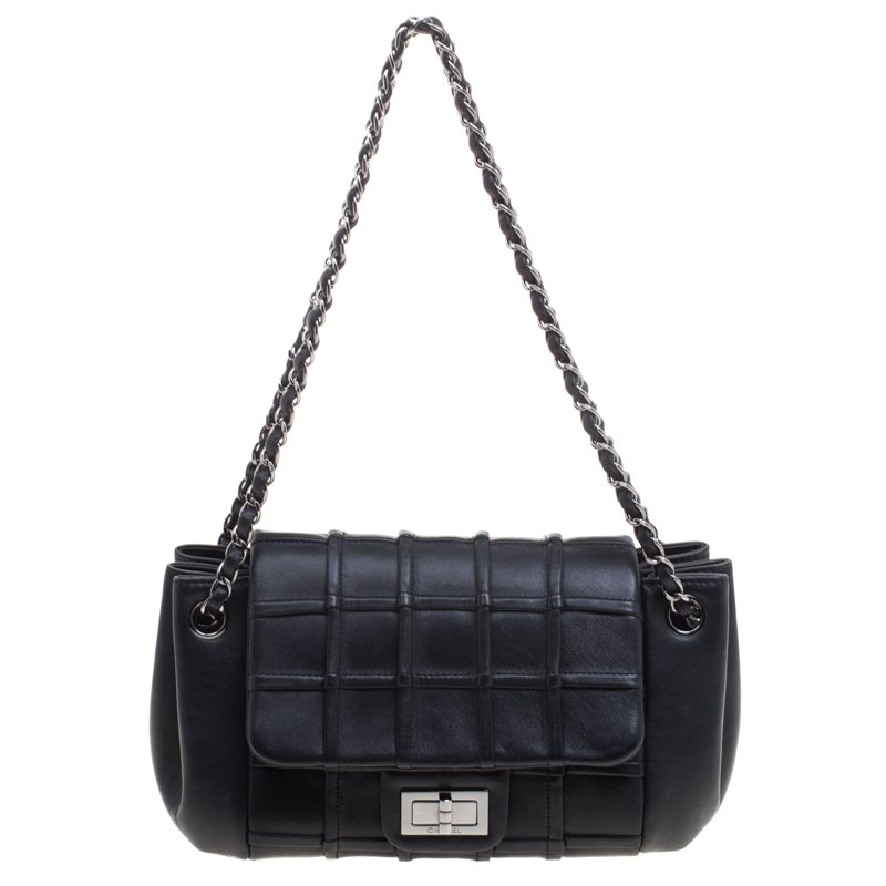 7af4e2ac2bf5 ... Chanel Black Leather Mademoiselle Accordion Flap Bag. nextprev. prevnext