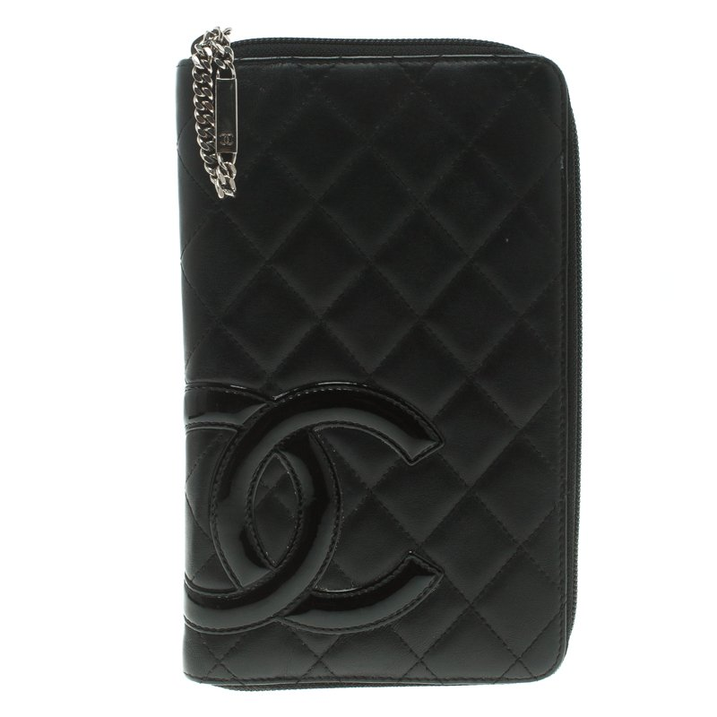 a3e7d5e874b6 Buy Chanel Black Quilted Leather Cambon Ligne Zippy Organizer Wallet ...