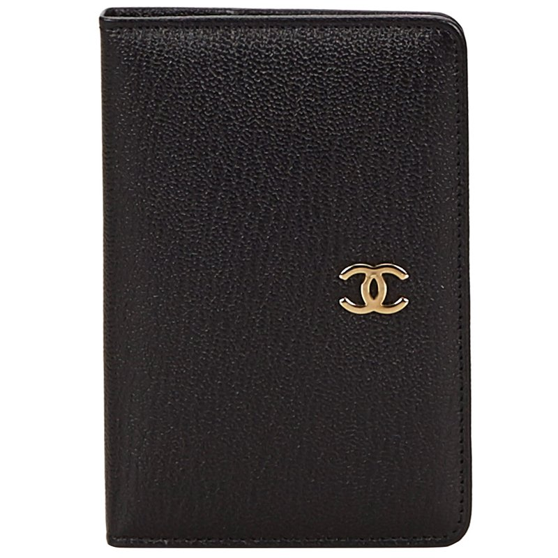 709b6e124526 ... chanel black leather cc card wallet 106377 at best price tlc ...